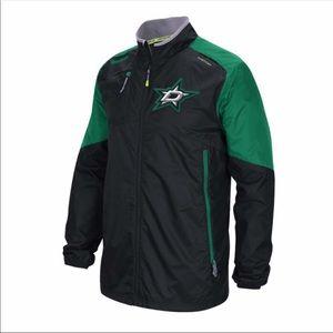 Reebok Dallas Stars Full Zip Windbreaker Jacket